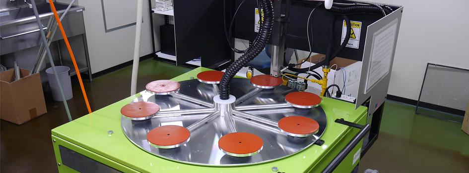 回転UV前処理機